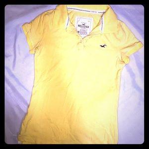 Yellow Hollister polo shirt